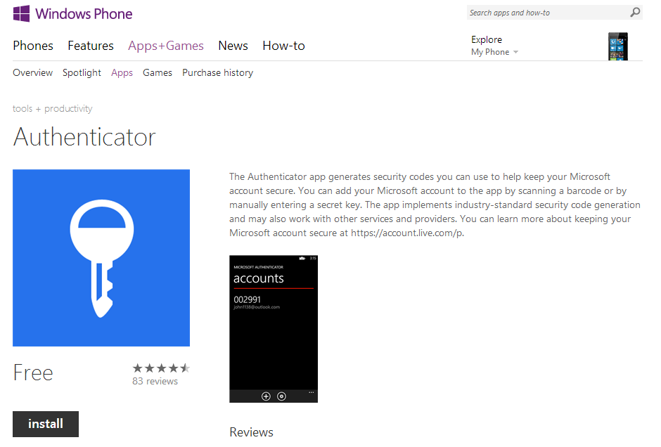 How to pair authenticator app on smartphone with Microsoft