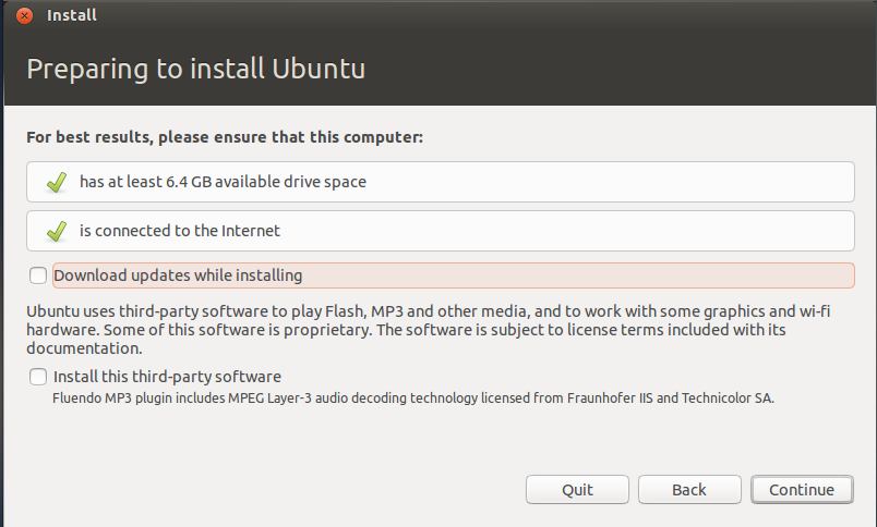 allow updating while installing